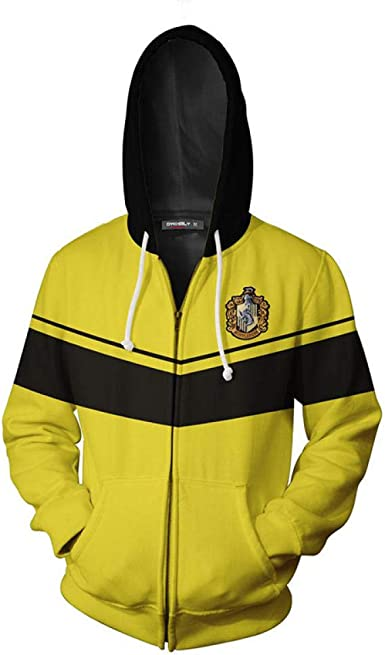 Camisa Sudadera con Cremallera Negra y Amarilla Sudadera con ...