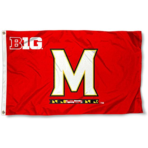 Maryland Terps Large Big Ten 3x5 College Flag (Big Ten Flags)