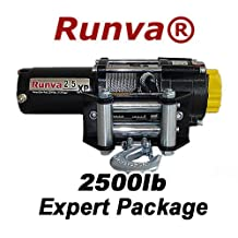 Runva 2.5XP 2500lb 12v ATV Winch Expert Package