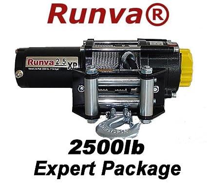 Runva 2 5XP 2500lb 12v ATV Winch Expert Package