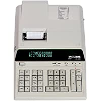 Monroe 8130X In Ivory 12-Digit Print/Display Professional Heavy Duty Calculator In Extended Life Calculator Body (Calculator, Ivory)