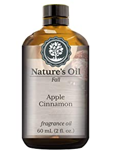 Apple Cinnamon Fragrance Oil (60ml) For Diffusers, Soap Making, Candles, Lotion, Home Scents, Linen Spray, Bath Bombs, Slime