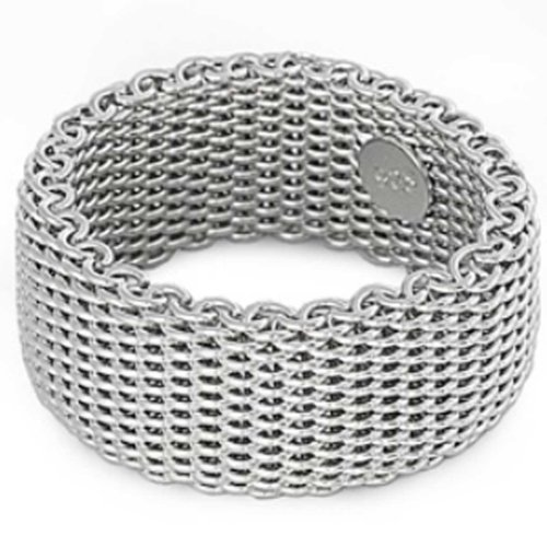 11MM (3/8in) Designer Inspired Sterling Silver Woven Flexible Somerset Mesh Screen
