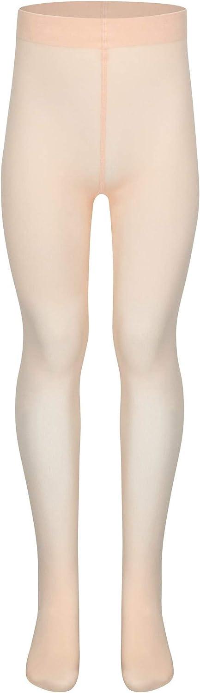 para ni/ños tanzmuster Medias de Ballet Dana Convertibles Blanco y Negro en Rosa Albaricoque Muy Suaves sin pie//con pie