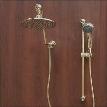 Atlantis 7 Gold Rain Shower Head Combination - Bathtub And