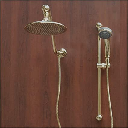 Atlantis 7 Gold Rain Shower Head Combination - Bathtub And ...