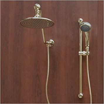 gold rain shower head. Atlantis 7 Gold Rain Shower Head Combination  Bathtub And
