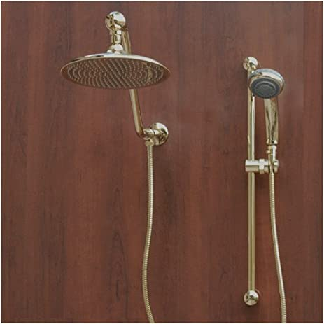 Atlantis 7 Gold Rain Shower Head Combination