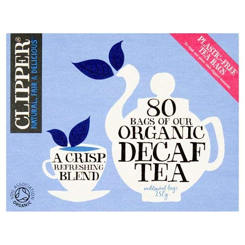 - Clipper Teas - 80 Unbleached Bags of Organic Decaf Tea - 250g