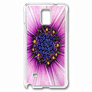 Insides Of A Flower Custom Back Phone Case for Samsung Galaxy Note 4 PC Material Transparent -1210443