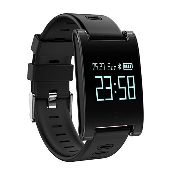 Reloj Inteligente Xinan DM68 Plus Fitness Tracker Presión arterial Monitor de frecuencia cardíaca Llamadas Mensajes Mira para SmartPhone (❤️Negro): ...