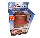 Home-X Steam'n Mama Microwave Cleaner. Orange Body and Brown Hair and face red