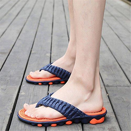 Naranja Zapatillas Ocasionales Al Y Color Antideslizantes EU Playa 3 tamaño Zapatillas De Aire Wangcui Zapatillas 2 Hombres Libre para Naranja Transpirables 40 B0wqn4xvY1