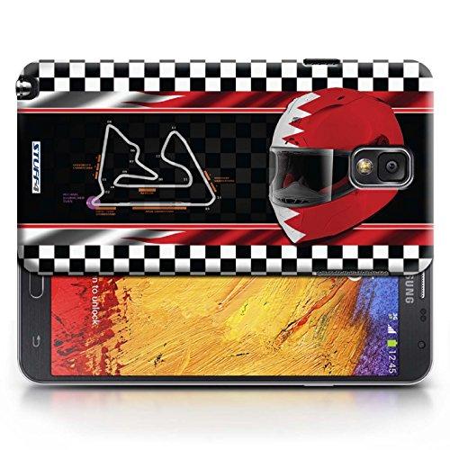 Etui / Coque pour Samsung Galaxy Note 3 / Bahreïn/Sakhir conception / Collection de F1 Piste Drapeau