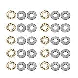 Fevas 10 pcs F8-19M Axial Ball Thrust Bearing 3-Parts 8mm x 19mm x 7mm New Brand