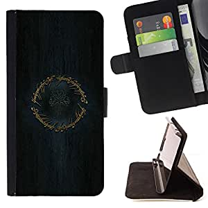 For Samsung Galaxy Core Prime LOTR Ring Leather Foilo Wallet Cover Case with Magnetic Closure