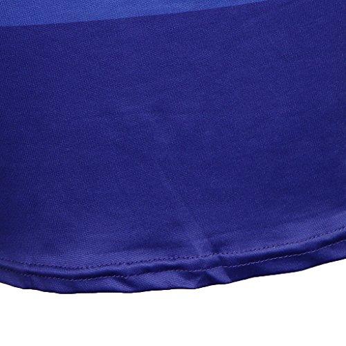 Ropa A Pierna Elastano Camisa Jovencita Blando Azul Poliéster D DOLITY Vestido Moderna Mujer Media REpPRZqw