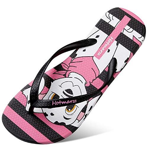 Femmes 42 Noir Toe Flat Clip Noir ZHRUI EU Beach Taille coloré Sandals Stripe Flip Flops XxqOw6SE