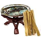 palo santo wood sticks - Premium Abalone Shell with Wooden Tripod Stand and 6 Palo Santo Sticks. Alternative Imagination Brand. (5