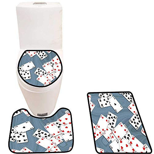 Lid Toilet Cover Background Playing Cards Metropolitan Attracti Personalized Durable