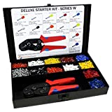 3400 Piece Wire Ferrules Starter Kit with Self Adjusting Tool 22 AWG to 10 AWG Insulated Connectors-SK700