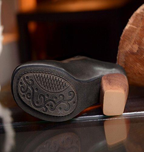 Gruesa Con Sandalias Cómodas Hechas A Mano Baotou Grey