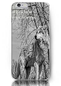Popular Designed Animal Design High Quality Hard Cover Accessory for 5.5 Inch Apple Humble Wolf iPhone 6 Plus Case BY Xincase