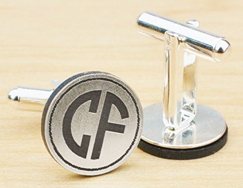 - Two Initial Monogram Cufflinks for Him - CF04