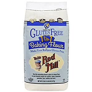 Bob's Red Mill Gluten Free 1 to 1 Baking Flour 22 oz (623 grams) Pkg