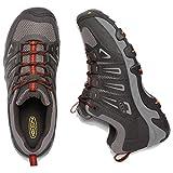 KEEN Men's Oakridge Shoe, Raven/Burnt Ochre, 10.5 M US