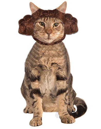 [MFR BACKORDER 012517 Star Wars Princess Leia Buns Cat Hood One Size] (Star Wars Halloween Costumes For Dogs)