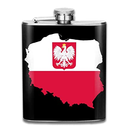 Amazon.com: Poland Map Flag with Coat of Arms Outdoor Personalized ...