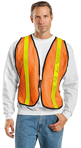 Port Authority Mesh Vest - Port Authority Mesh Enhanced Visibility Vest, Safety Orange, Small / Medium