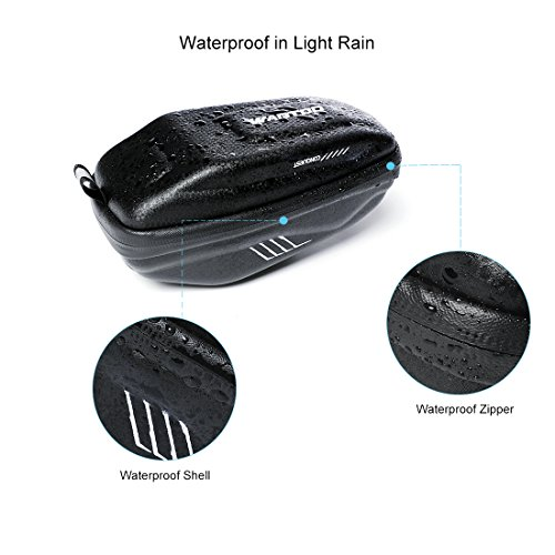 Wantdo Bicycle Saddle Bag with Highly Sealed Zipper for Repair Tools,Waterproof Bike Bag with Reflective Logo Outdoor Accessories Pocket Cycling Pack by Wantdo (Image #2)