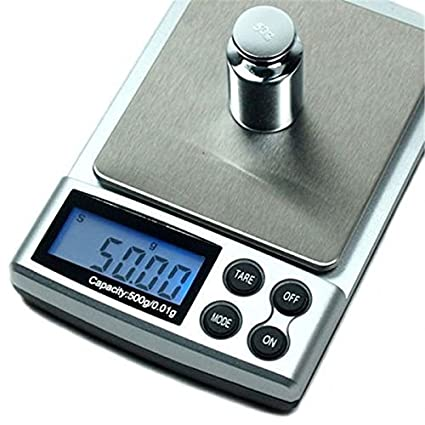 Funnytoday365 500G X 0.01G Mini Basculas Precision Digital Pocket Scale Gold 0.01G Digital Scale
