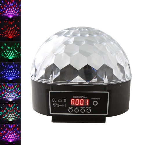 Kingzer 2PCS RGB Crystal Ball Effect LED Stage Lights Digital DMX512 Disco DJ Lamp 20W from KINGZER