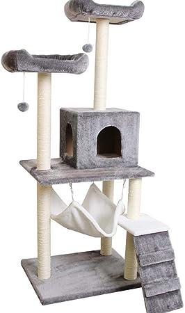 RKY Árboles para Gatos- Gato Grande árbol Cuatro Estaciones sisal General Gato Escalada Marco Gato Torre Colgando Pelota Salto Gato Juguete Mascota Juguete Mascota Nido 8 Colores Opcionales /-/: Amazon.es: Hogar