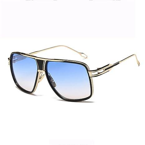 RAQ Trend Hombres Gafas de Sol Moda Retro Metal Lady Big Box ...