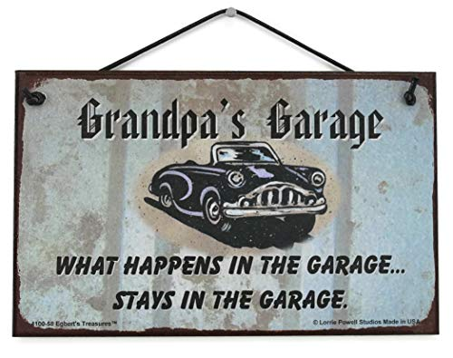 5x8 Sign with Classic Car Saying