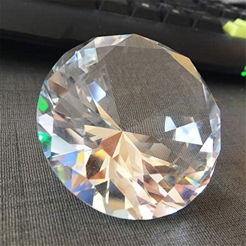 Queenwind 60mm ビッグ K9 クリスタルクリアダイヤモンドガラスアート文鎮デコレーションオーナメントクリエイティブギフト