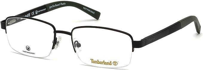 gato espía Aprendiz  Amazon.com: Eyeglasses Timberland TB 1588 002 Mate Negro: Clothing