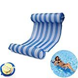 theBlueStone Water Hammock Swimming Pool Beach Floating Recliner Lounger Float Raft Chair Inflatable PVC Swim Mat-Blue