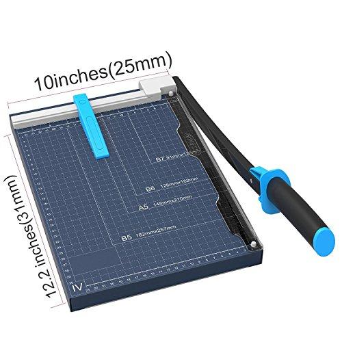 Marigold Professional Metal Base Plate Paper Trimmer, Blue, 12' (GL410)