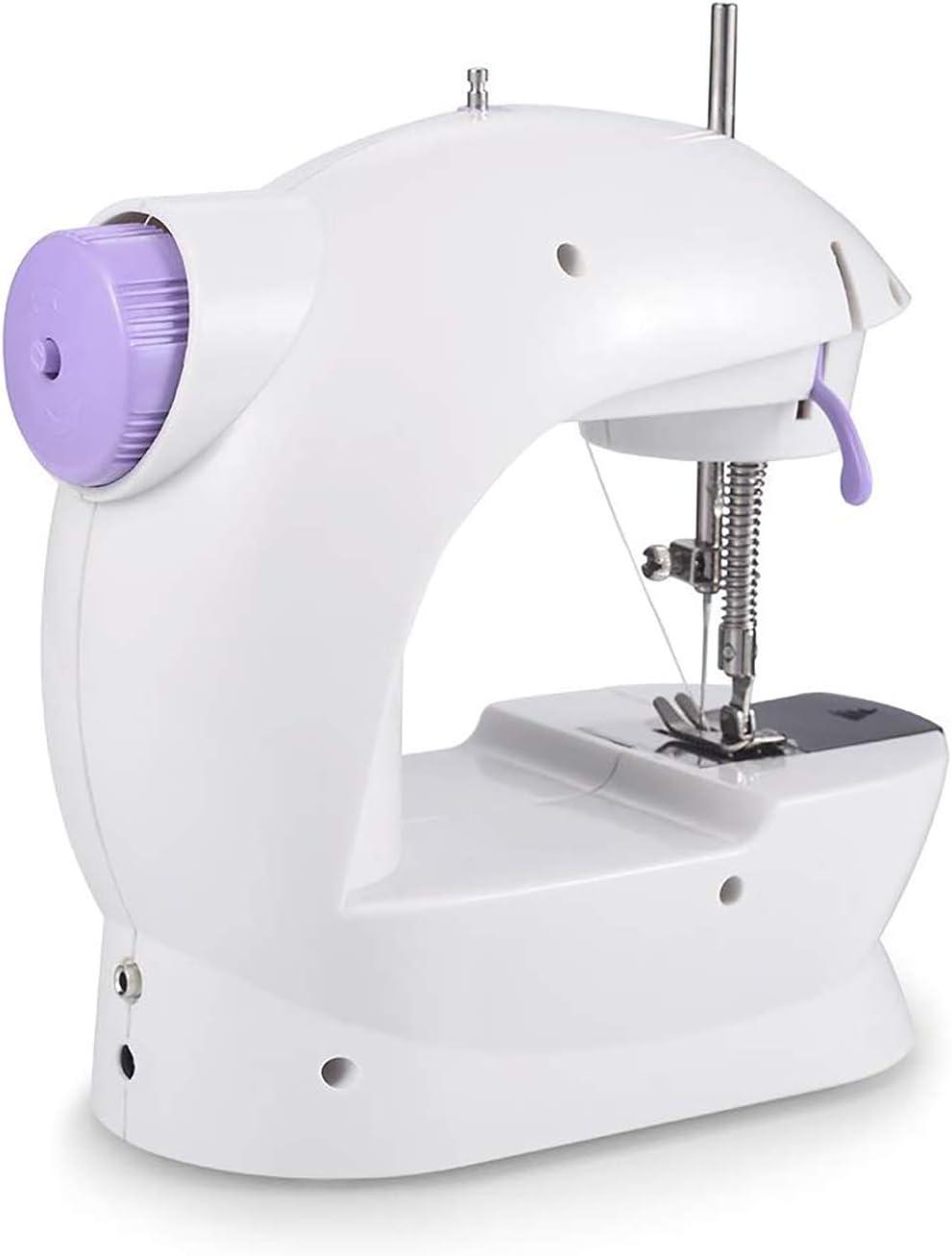 Máquina de coser con luz, pedal de velocidad ajustable, mini ...