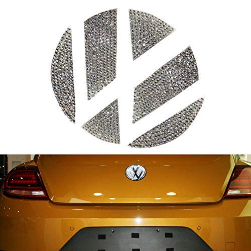 YaaGoo VW Outside Emblem Crystal Sticker for VW Beetles (2013-2018 Rear)