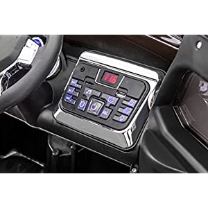 SPORTrax-Rescue-Kids-Ride-On-Police-SUV-Battery-Powered-Remote-Control-wFREE-MP3-Player-Black