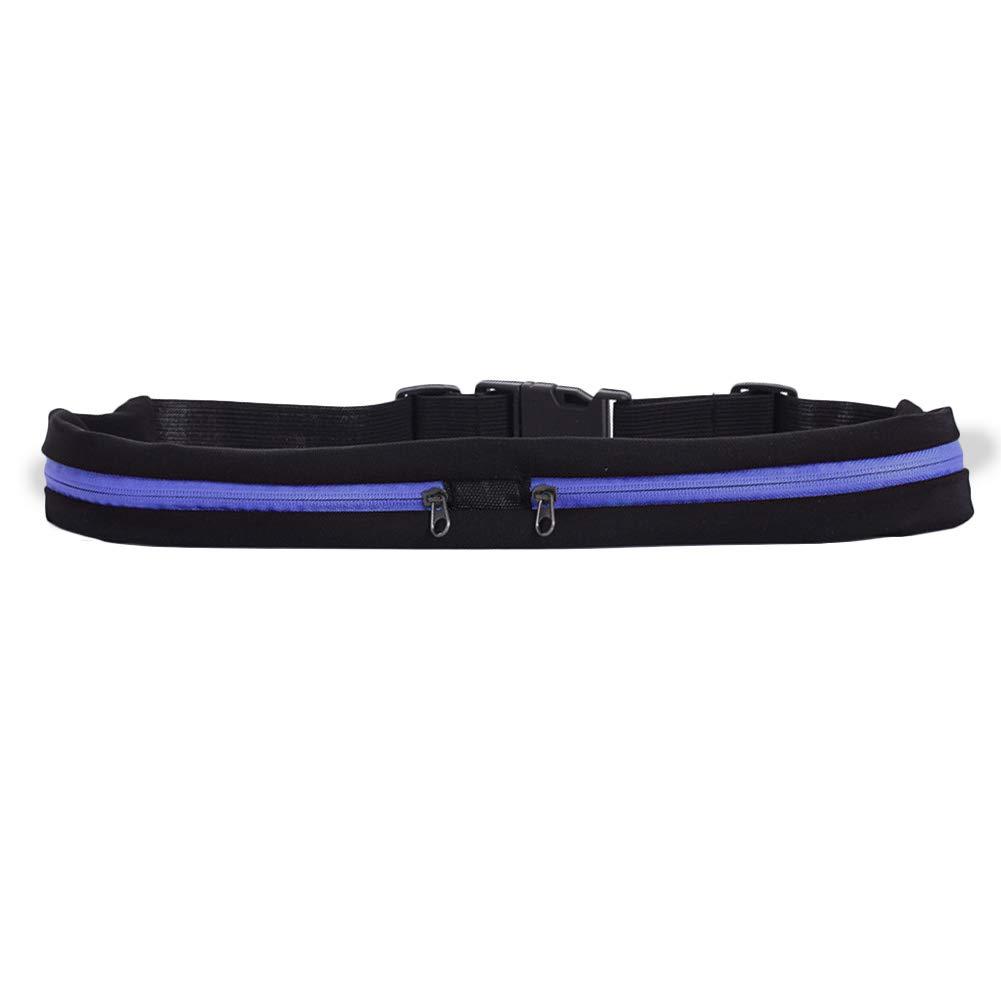 Henreal Dual Pocket Running Belt Adjustable Waist Bag for Sports Fitness Mobile Phones