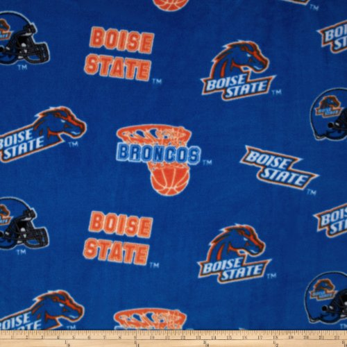 Boise State Broncos Stadium Seat (Boise State University Fleece Blue Fabric By The Yard)