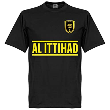 68004e43b275 Amazon.com  Retake Al Ittihad Team Tee - Black  Clothing