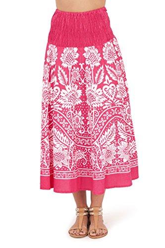 Vestido Veraniego de Dama 2 en 1 de algodón Pistachio Rosa 3